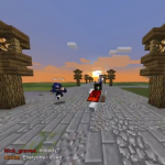Me running past Coestar in Lords of Minecraft!